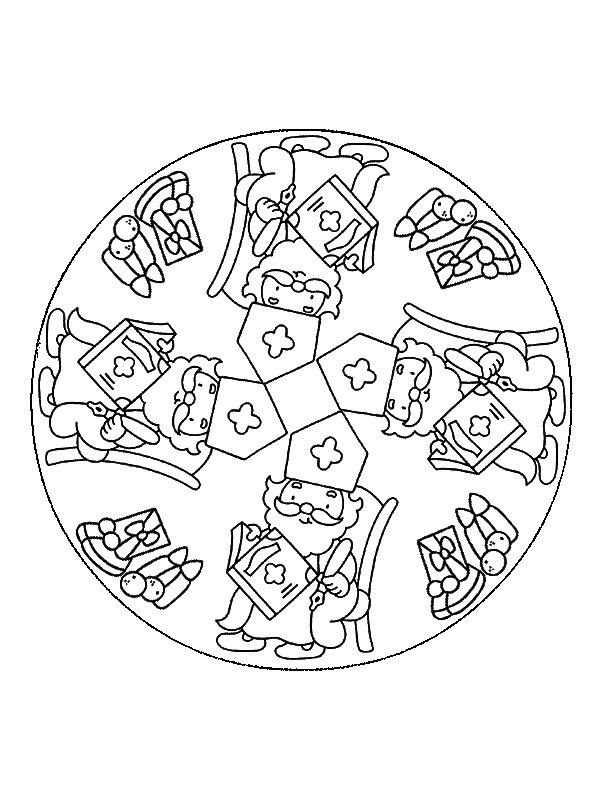 Sinterklaas Kleurplaten Mandalas.Kleurplaten En Zo Kleurplaten Van Mandala Sinterklaas