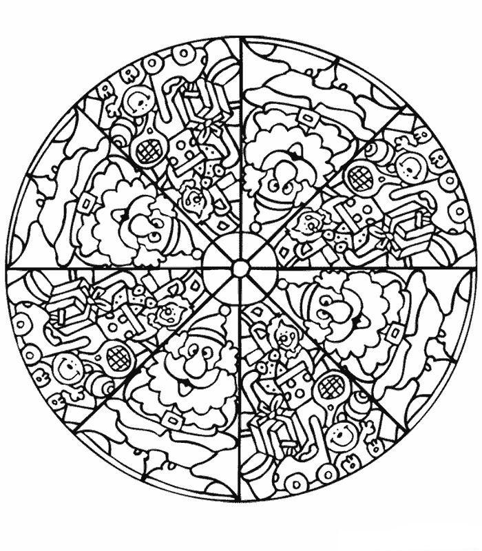 Sinterklaas Kleurplaten Mandalas.Kleurplaten En Zo Kleurplaat Van Mandala Kerstman