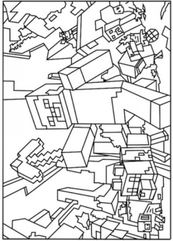 Kleurplaten En Zo 187 Kleurplaat Van Minecraft