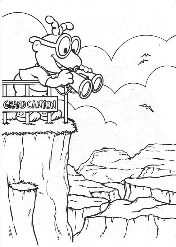 Print Muppet babies in de Grand Canyon kleurplaat