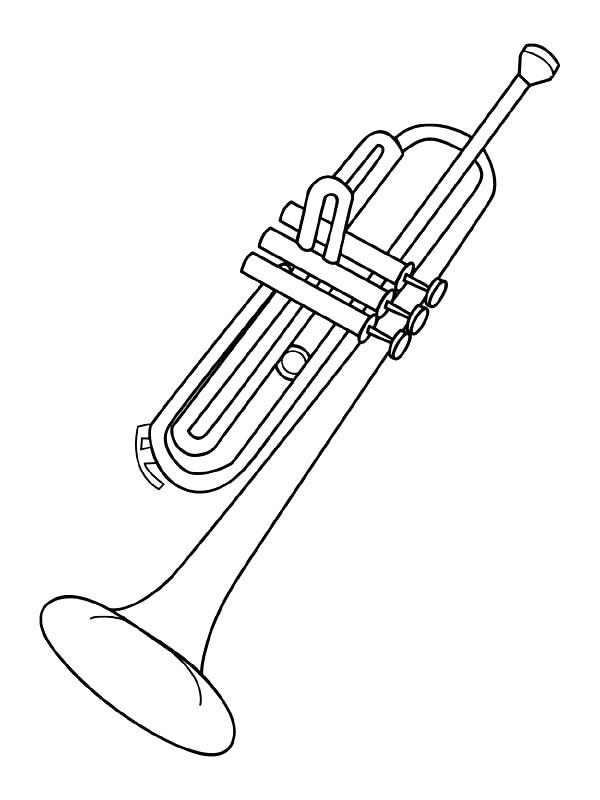 kleurplaten en zo 187 kleurplaat trompet