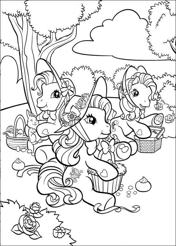 kleurplatenenzo my little pony