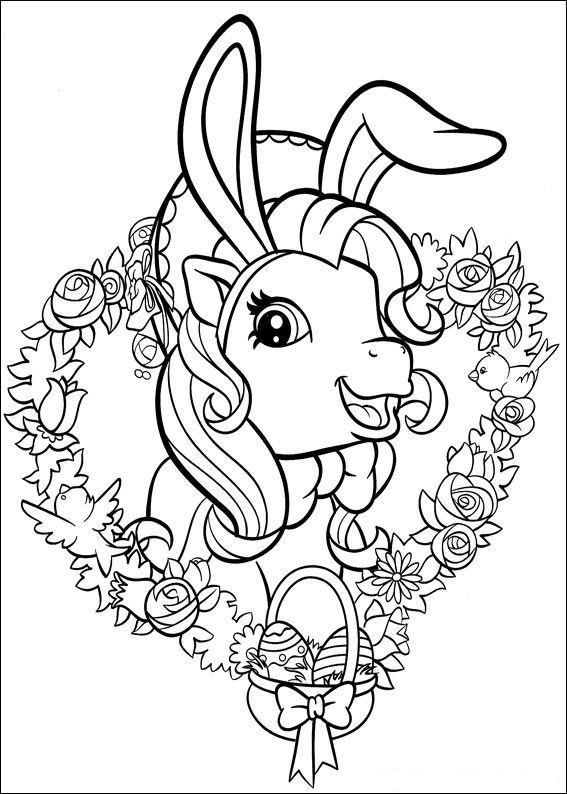 Kleurplaten en zo kleurplaten van my little pony - Dessin de paques facile a faire ...