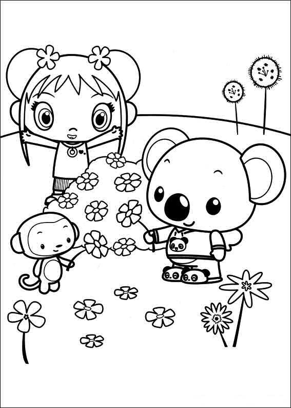 Kleurplaten en zo kleurplaten van ni hao kai lan for Kai lan coloring pages