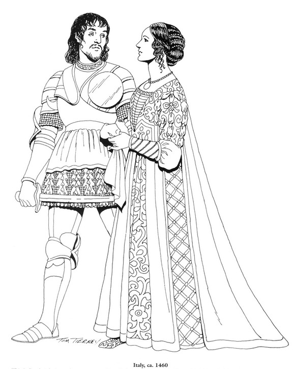 historical medieval coloring pages - photo#2
