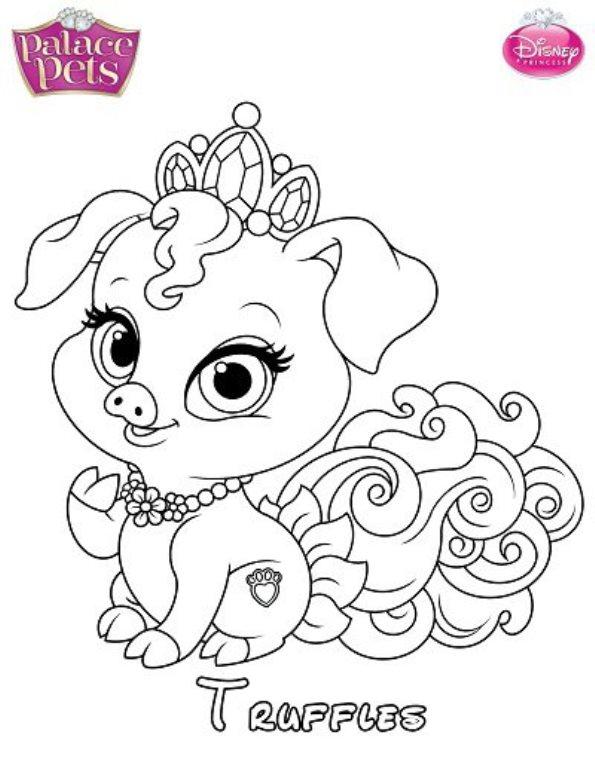 Kleurplaten En Zo 187 Kleurplaten Van Prinses Palace Pets