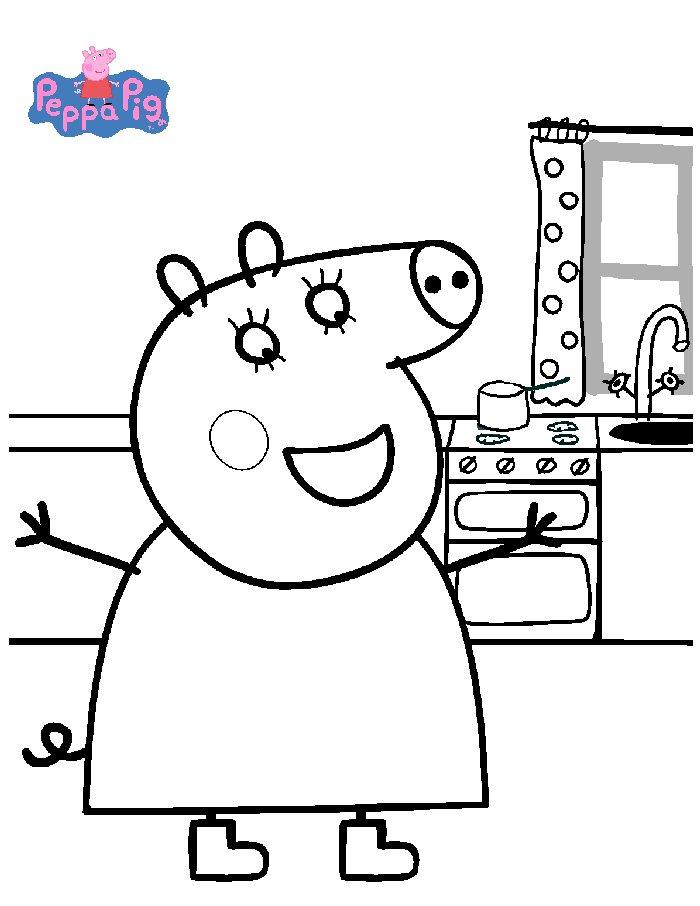 Kleurplaten Peppa Pig.Kleurplaten En Zo Kleurplaten Van Peppa De Big