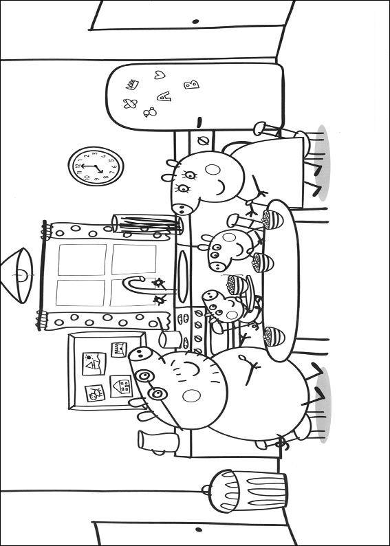 Kleurplaten En Zo 187 Kleurplaat Van Peppa Pig En Familie