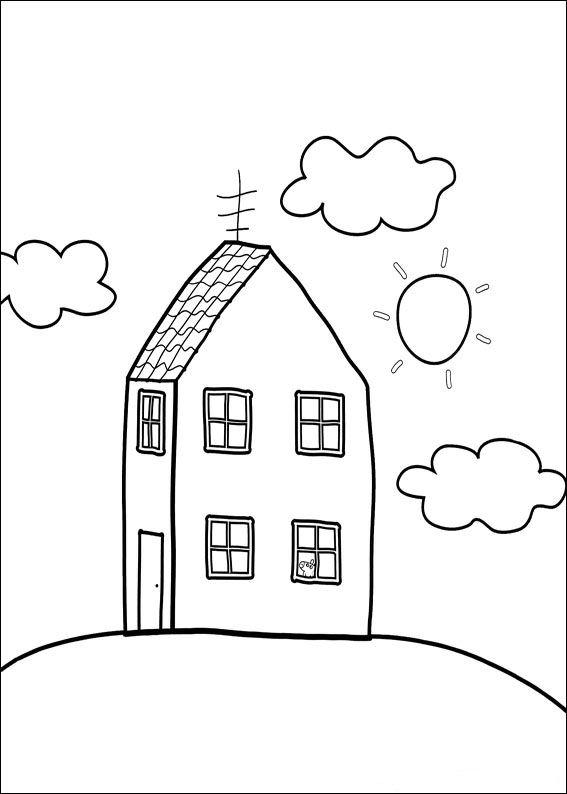 Kleurplaten En Zo Kleurplaat Van Het Huis Van Peppa