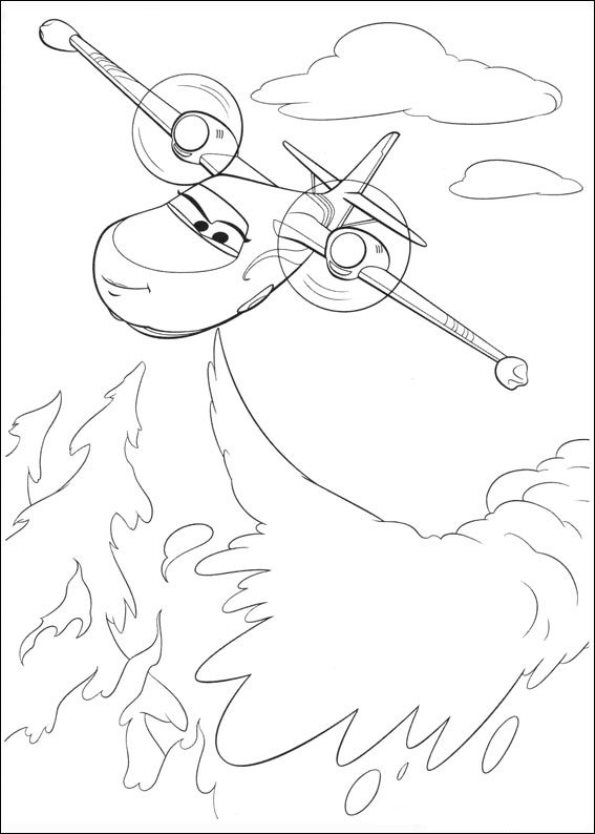 Similiar Fire Airplane Coloring Pages Keywords