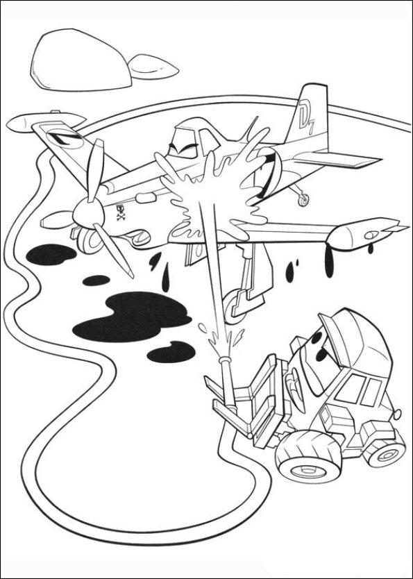 Gratis Kleurplaten Planes.Kleurplaat Planes