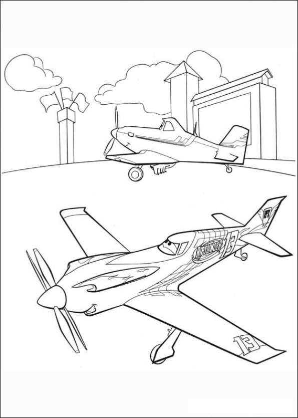 Disney Planes Coloring Pages Ripslinger : Free coloring pages of ripslinger from planes