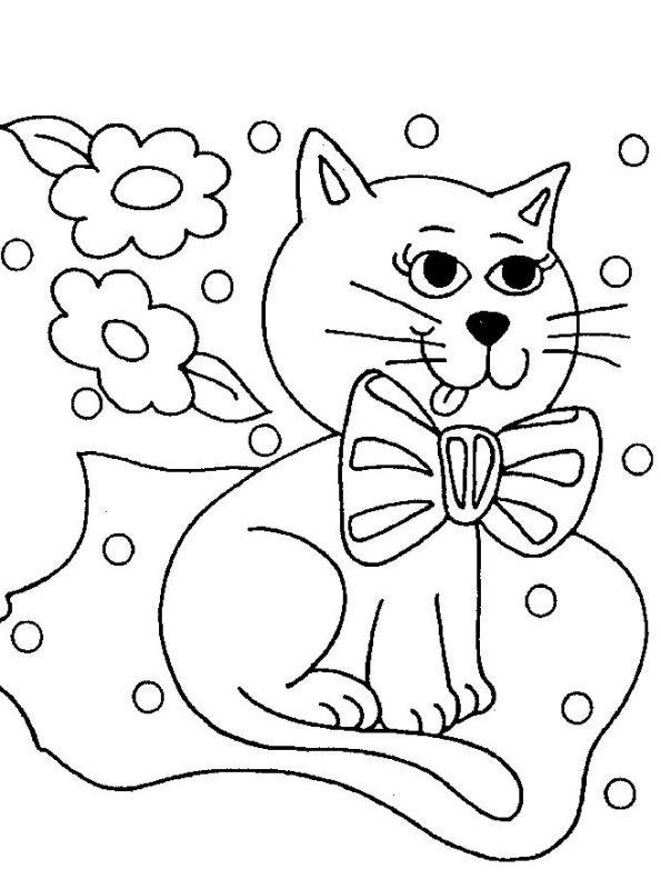 Kleurplaten Van Poezen Katten
