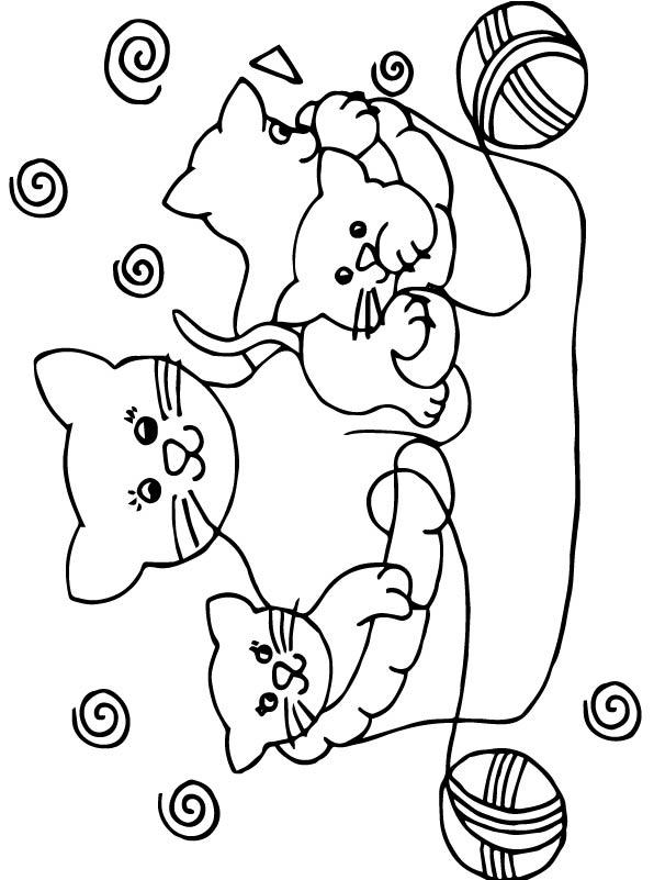 kleurplaten en zo 187 kleurplaten poezen en katten