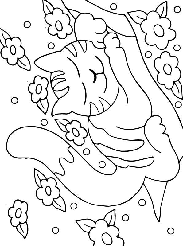 Kleurplaten Baby Katjes.Kleurplaten En Zo Kleurplaten Van Poezen En Katten