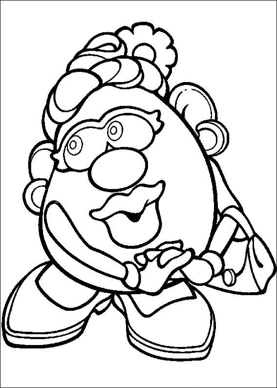 Print Mrs. Potato Head kleurplaat