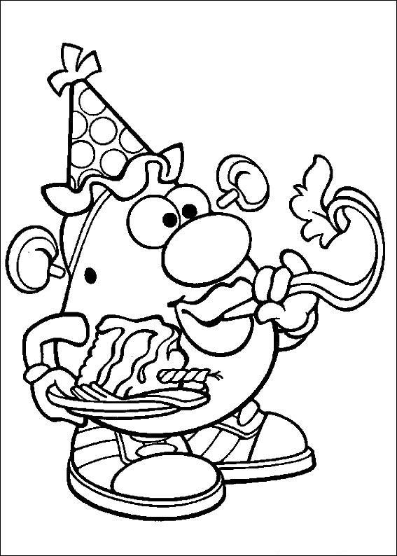 Kleurplaten En Zo 187 Kleurplaat Van Mr Potato Head Feest
