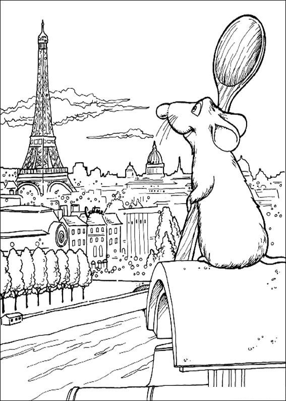 Eiffeltoren Parijs Kleurplaat Kleurplaten En Zo 187 Kleurplaten Van Ratatouille