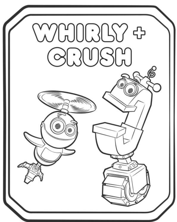 Print whirly crush 2 kleurplaat
