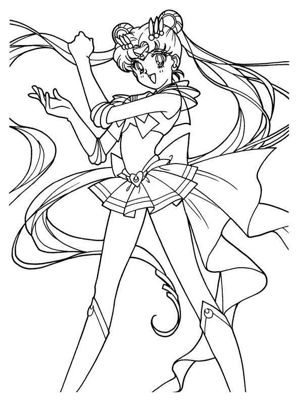 Print Sailor Moon kleurplaat