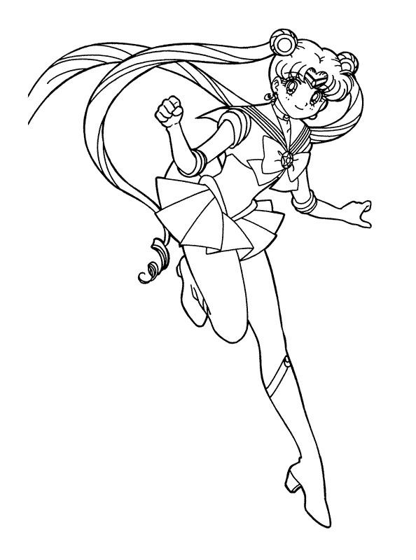 Kleurplaten Van Sailor Moon