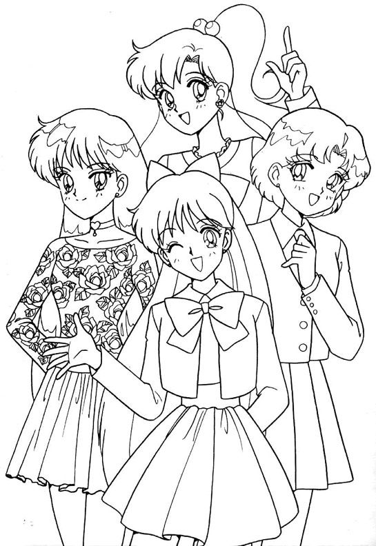 Cute coloring pages sailor venus coloring pages for Sailor coloring pages