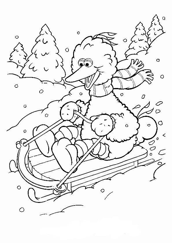 Kleurplaten Winter Slee.Kleurplaten En Zo Kleurplaat Van Pino Op De Slee