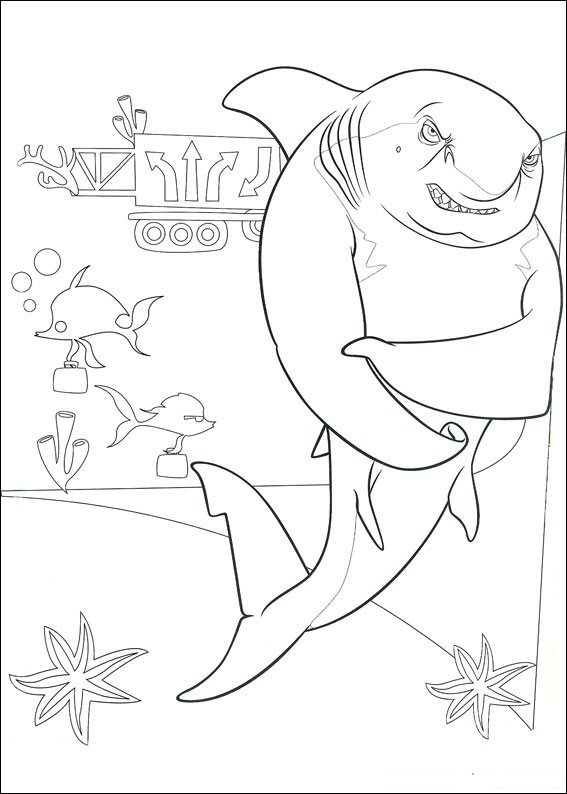 Kleurplaten en zo kleurplaten van shark tale for Shark tale coloring pages