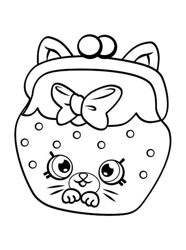 Cookie Shopkin Coloring Pages