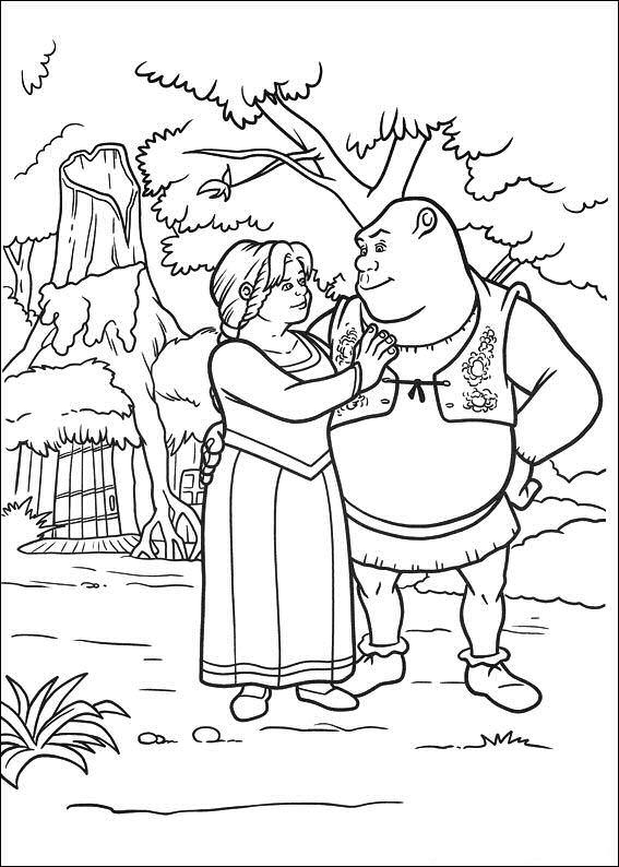 Kleurplaten en zo kleurplaten van shrek 4 voor eeuwig en for Shrek 4 coloring pages