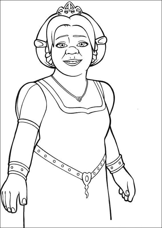 Kleurplaten En Zo 187 Kleurplaten Van Shrek De Derde Shrek 3 Princess Fiona Coloring Page Printable