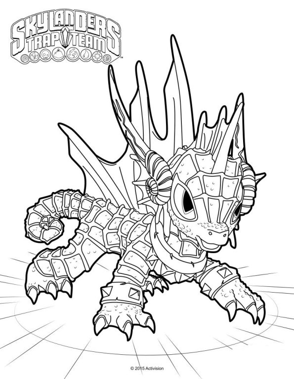 Kleurplaten En Zo 187 Kleurplaten Van Skylander Trap Team Skylander Boy And Coloring Pages
