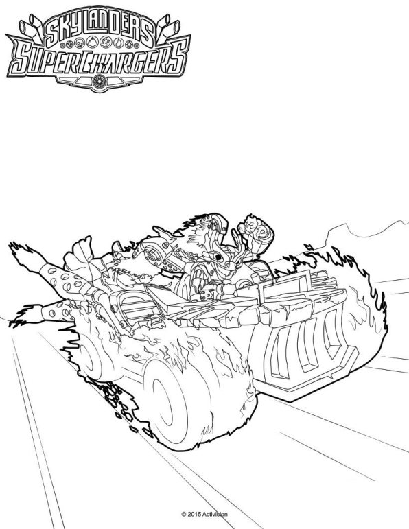 Kleurplaten Skylanders Superchargers.Kleurplaten En Zo Kleurplaat Van Skylander Superchargers
