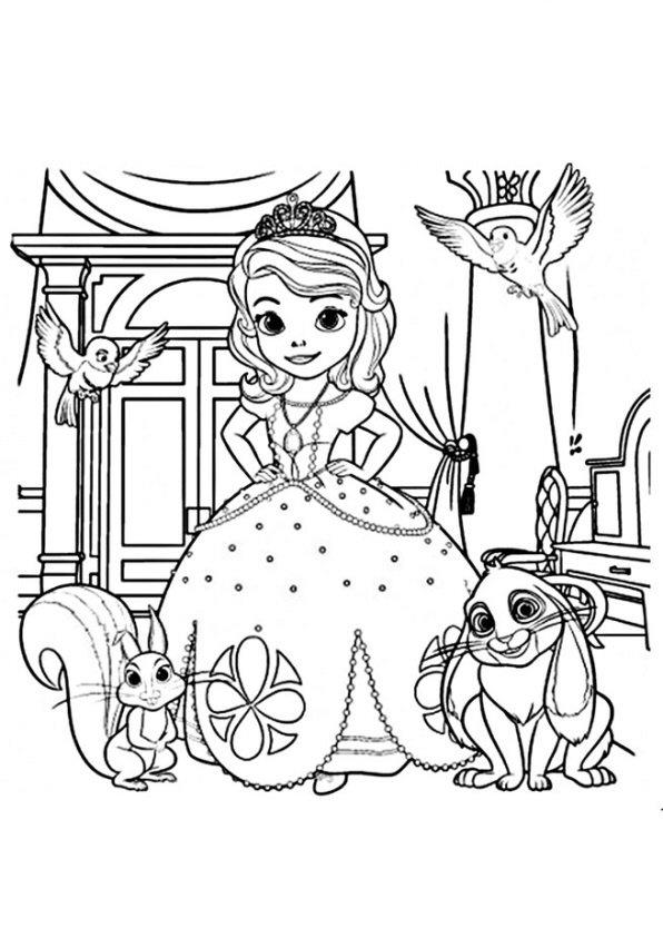Kleurplaten En Zo Kleurplaten Van Sofia Het Prinsesje
