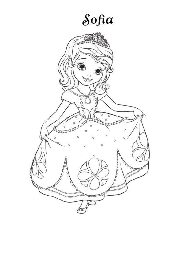 Kleurplaten Prinses Amber.Kleurplaten En Zo Kleurplaten Van Sofia Het Prinsesje