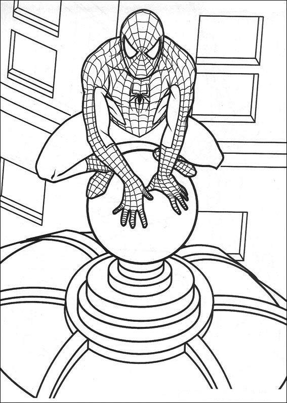 Kleurplaten En Zo 187 Kleurplaten Van Spiderman