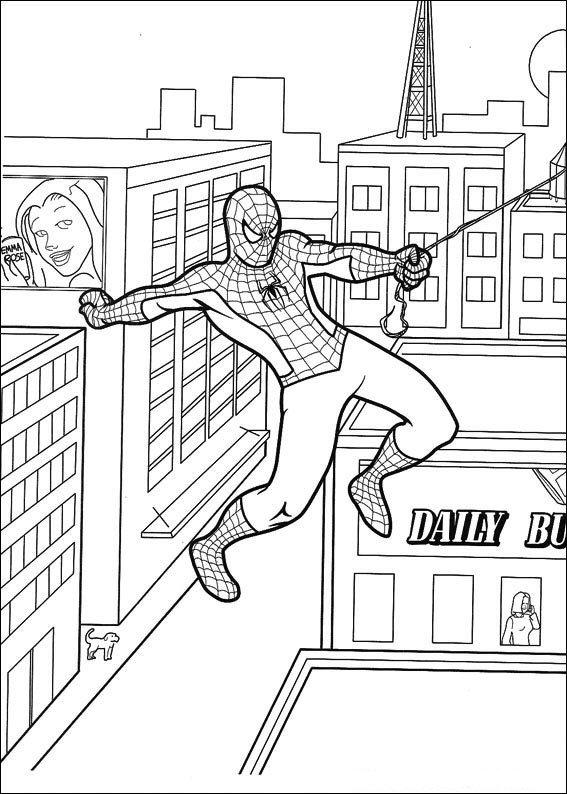 Kleurplaten Van Spiderman.Kleurplaten En Zo Kleurplaat Van Spiderman
