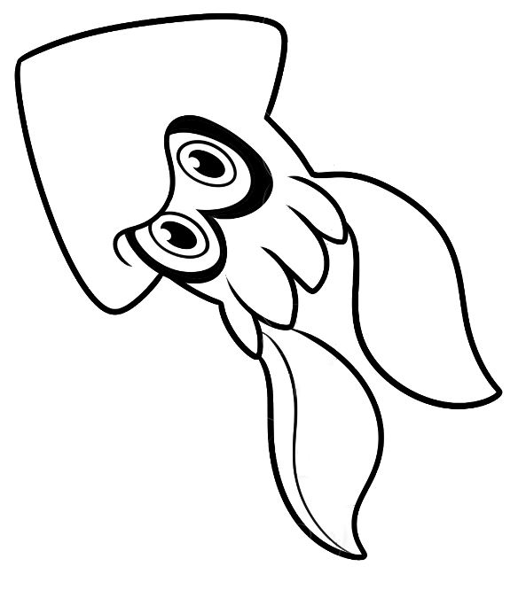 splatoon coloring pages sketch coloring page