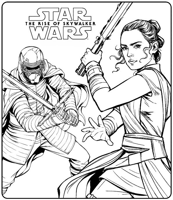 Print Star Wars The Rise of Skywalker kleurplaat