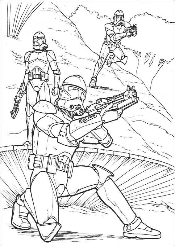 storm trooper coloring pages printable - kleurplaten en zo kleurplaten van star wars