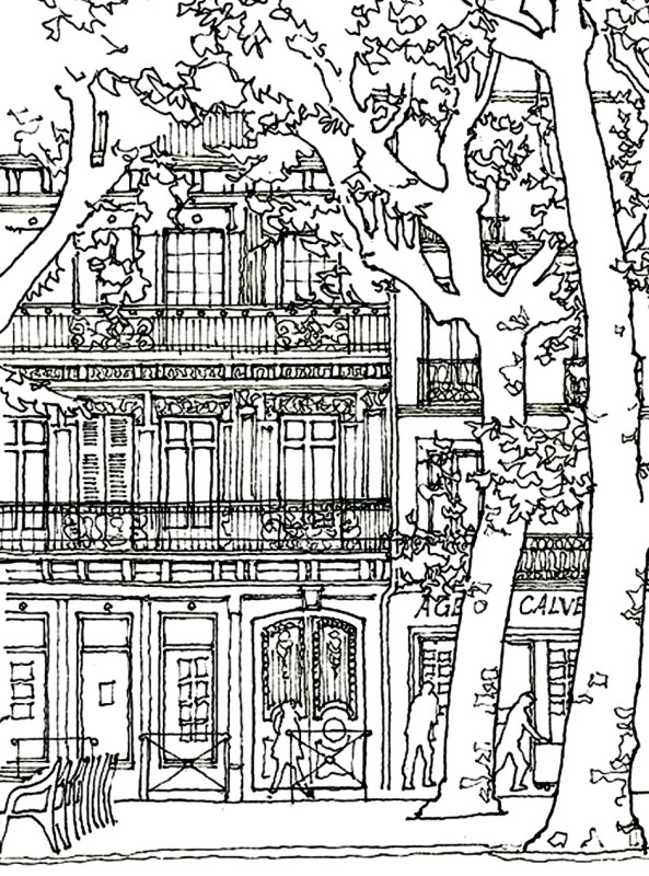 places in town coloring pages - photo#36
