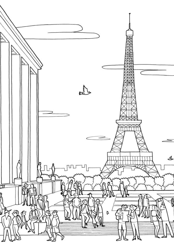 Kleurplaten Voor Volwassenen Parijs.Kleurplaten En Zo Kleurplaten Van Steden