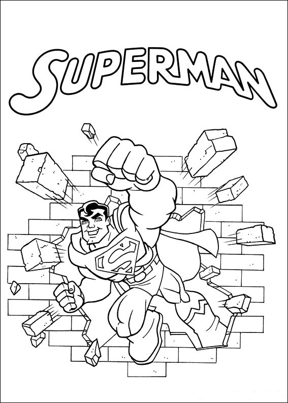 Print Superfriends - Superman kleurplaat