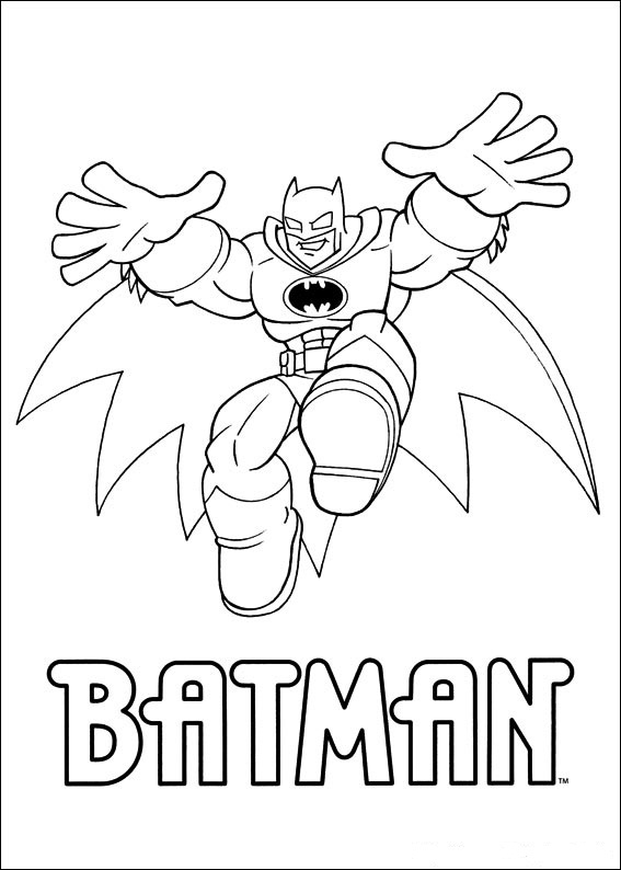 Print Superfriends - Batman kleurplaat