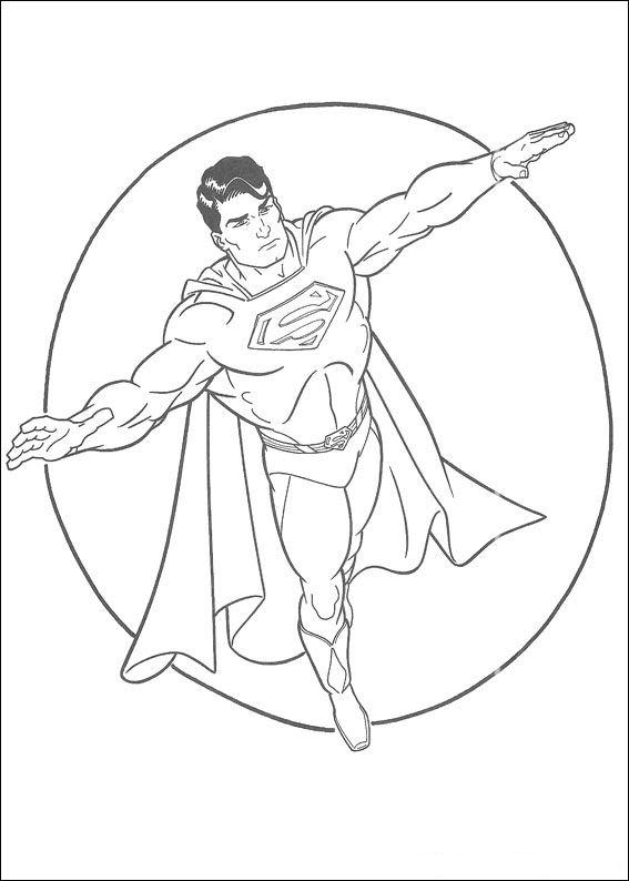 Kleurplaten Kleurplaat Van Superman