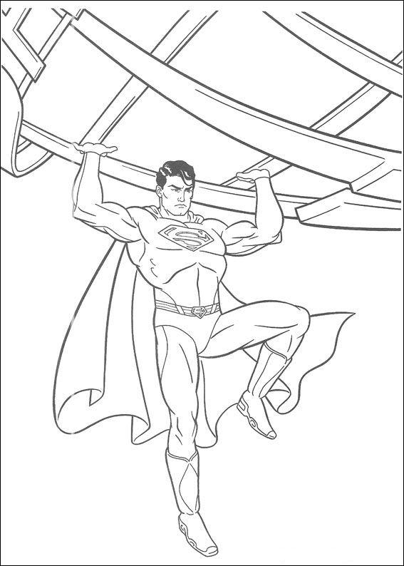 kleurplaten en zo  u00bb kleurplaat van superman