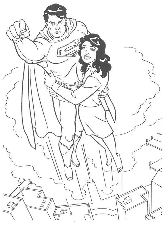 superman kleurplaten en zo