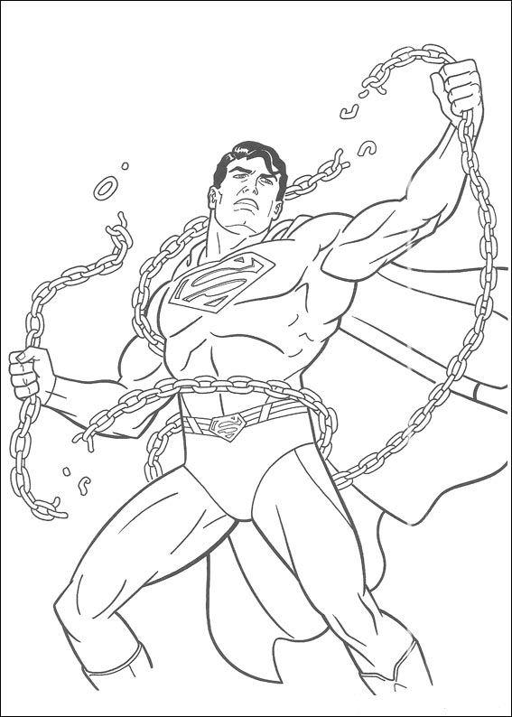 Kleurplaten En Zo 187 Kleurplaat Van Superman