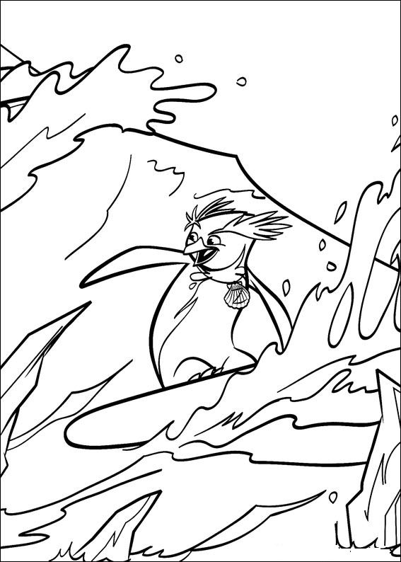 surfs up cody coloring pages - photo#4