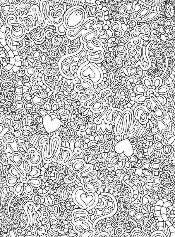 kleurplaten voor volwassenen swirls